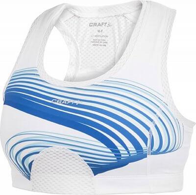 Spodní prádlo Craft Podprsenka Sports Super Bra modrá potisk