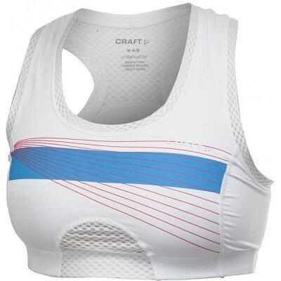 Spodní prádlo Craft Podprsenka Sports Super Bra bílá potisk