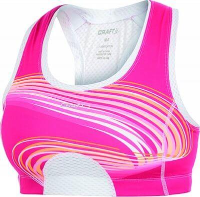 Spodní prádlo Craft Podprsenka Sports Super Bra růžová potisk