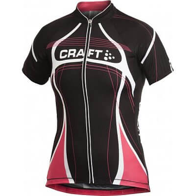 Trička Craft W Cyklodres PB Tour černá s růžovou