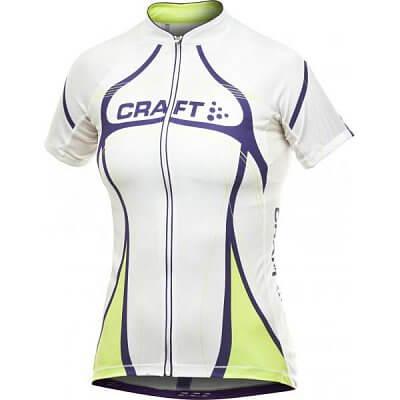 Trička Craft W Cyklodres PB Tour bílá s fialovou
