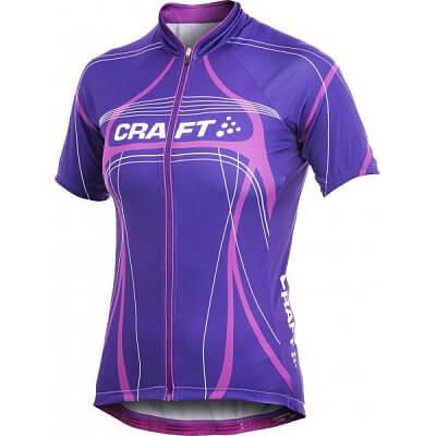 Trička Craft W Cyklodres PB Tour fialová