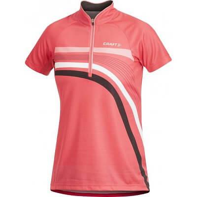 Trička Craft W Cyklodres PB Stripe růžová
