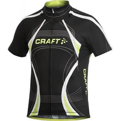 Trička Craft Cyklodres PB Tour černá se žlutou