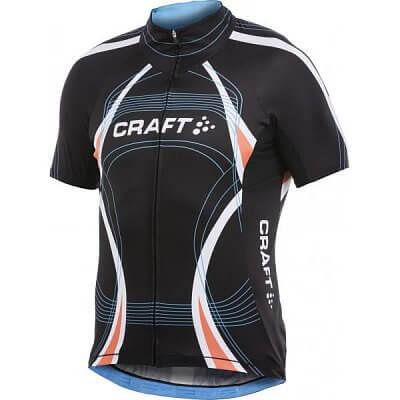 Trička Craft Cyklodres PB Tour černá s oranžovou