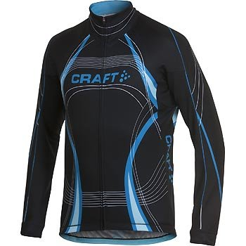 Trička Craft Cyklodres PB Tour Longsleeve černá s modrou