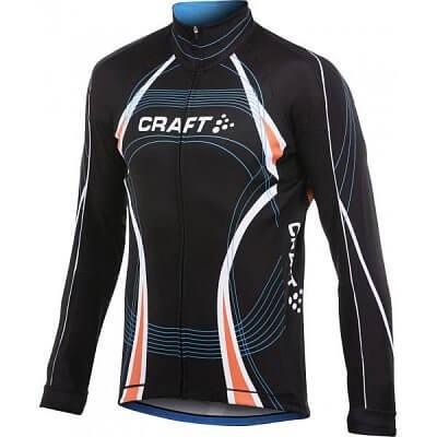 Trička Craft Cyklodres PB Tour Longsleeve černá s oranžovou