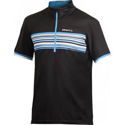 Trička Craft Cyklodres PB Stripe černá s modrou