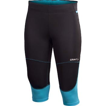 Kalhoty Craft W Kalhoty PR Hybrid Capri černá s modrou