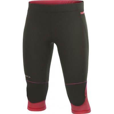 Kalhoty Craft W Kalhoty PR Hybrid Capri černá s růžovou