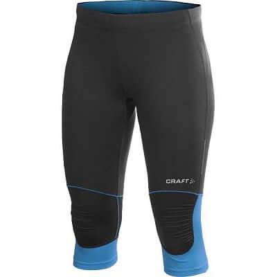 Kalhoty Craft W Kalhoty PR Capri černá s modrou