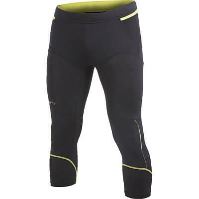 Kalhoty Craft Kalhoty Trail Knickers černá se žlutou