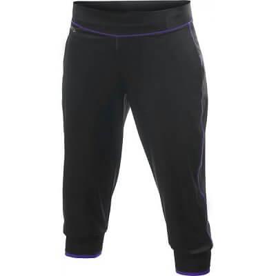 Kalhoty Craft W Kalhoty AR Femme Capri černá s fialovou