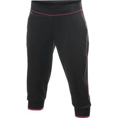 Kalhoty Craft W Kalhoty AR Femme Capri černá s růžovou