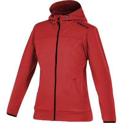 Mikiny Craft W Mikina Leisure Full Zip Hood červená