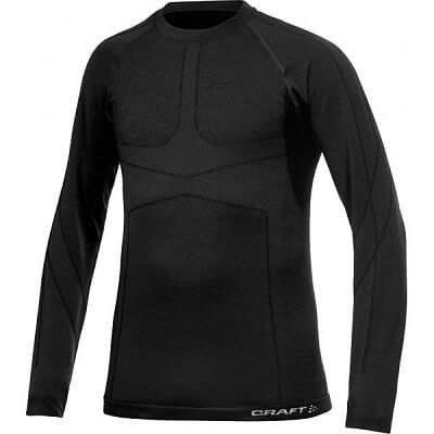 Trička Craft Triko Warm CK Wool černá
