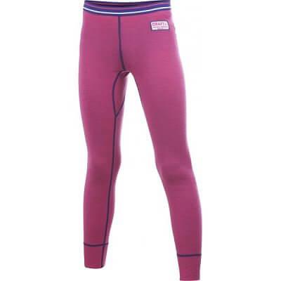 Spodní prádlo Craft Spodky Warm Wool Junior růžová