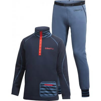 Mikiny Craft Set Stretch 2-pack Junior tmavě modrá
