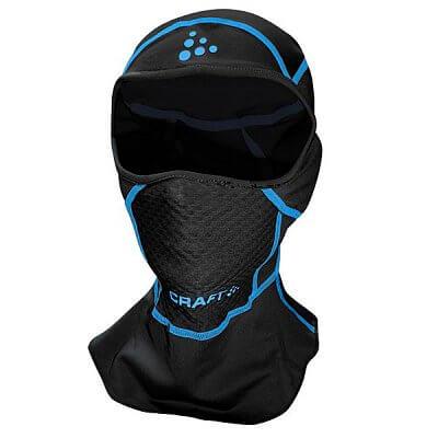 Čepice Craft Kukla Stretch Face Protector Junior černá s modrou