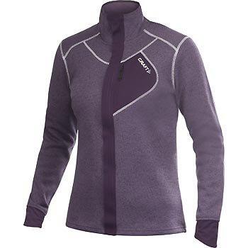 Mikiny Craft W Mikina Performance Warm Jacket fialová