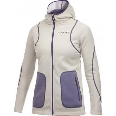 Mikiny Craft W Mikina Active Full Zip Hood béžová
