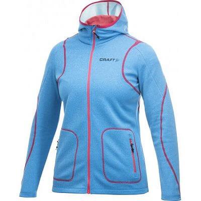 Mikiny Craft W Mikina Active Full Zip Hood modrá