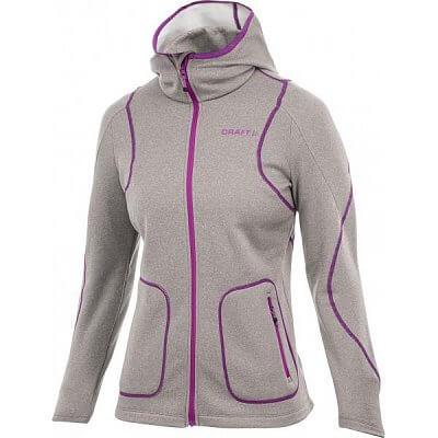 Mikiny Craft W Mikina Active Full Zip Hood fialová