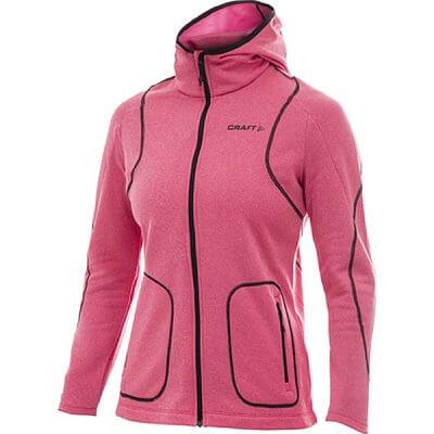 Mikiny Craft W Mikina Active Full Zip Hood růžová