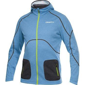 Mikiny Craft Mikina Active Full Zip Hood modrá