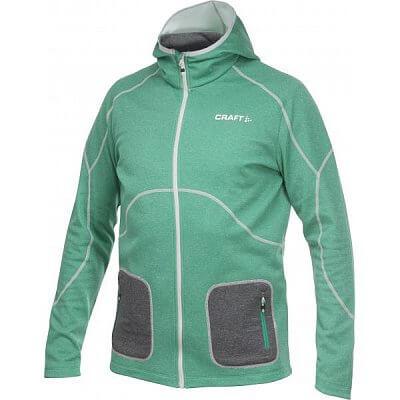 Mikiny Craft Mikina Active Full Zip Hood tmavě zelená