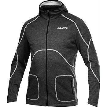 Mikiny Craft Mikina Active Full Zip Hood černá