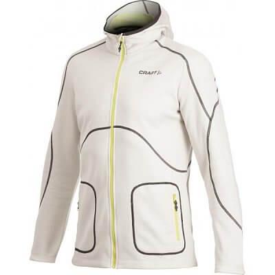 Mikiny Craft Mikina Active Full Zip Hood béžová