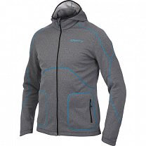 Craft Mikina Active Full Zip Hood černá s modrou