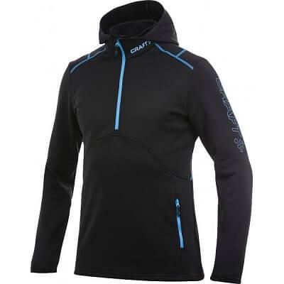Mikiny Craft Mikina Active Logo Hood černá s modrou