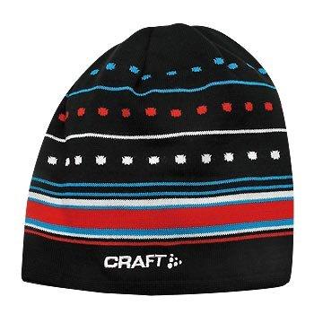 Čepice Craft Čepice XC Light Knit černá s červenou
