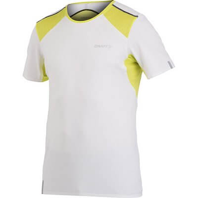 Trička Craft Triko ER Tee bílá se žlutozelenou