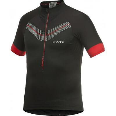 Trička Craft Cyklodres EB Jersey černá s červenou