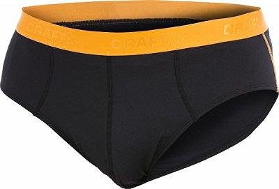 Spodní prádlo Craft Slipy Cool Briefs černá s oranžovou