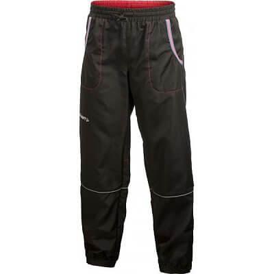 Kalhoty Craft Kalhoty Run Junior černá s růžovou