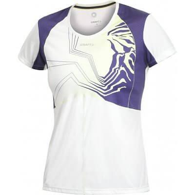 Trička Craft W Triko PR Sublimated bílá s fialovou