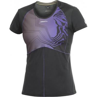 Craft W Triko PR Sublimated černá s fialovou