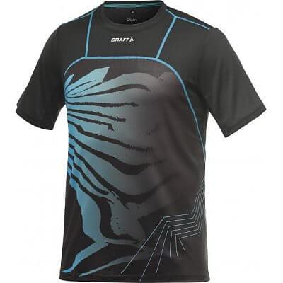 Trička Craft Triko PR Sublimated černá s modrou