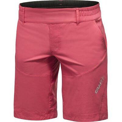 Kraťasy Craft W Cyklokalhoty AB Hybrid Shorts růžová