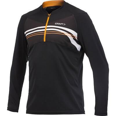Trička Craft Cyklodres AB Long Sleeve černá s oranžovou
