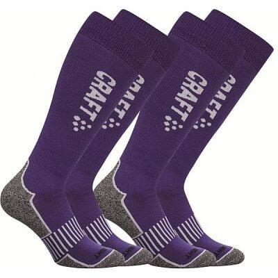 Ponožky Craft Podkolenky Warm Multi 2-pack fialová