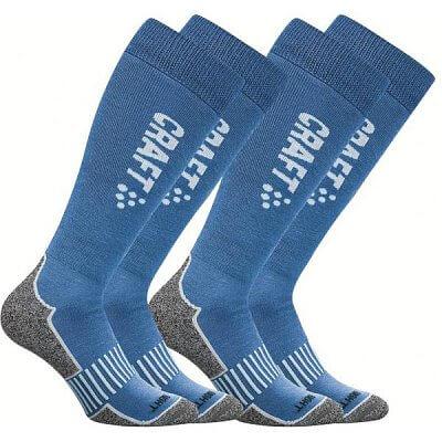 Ponožky Craft Podkolenky Warm Multi 2-pack modrá