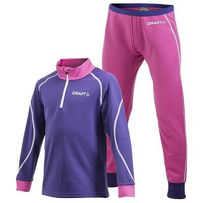 Mikiny Craft Set Stretch 2-pack Junior fialová