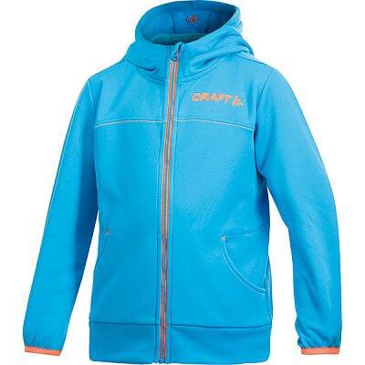 Mikiny Craft Mikina Stretch Hood FZ JR modrá