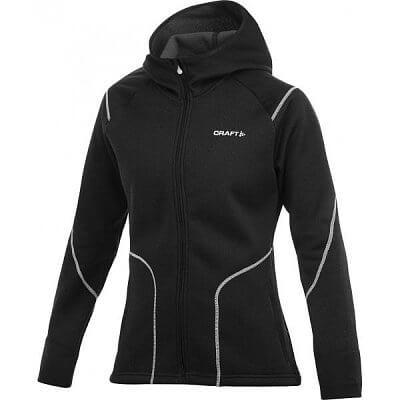 Mikiny Craft W Mikina Performance Warm Hood Jacket černá