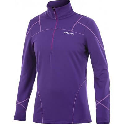 Mikiny Craft W Mikina Performance Thermal Stretch Pullover fialová